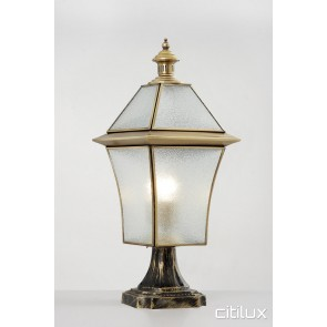 Ramsgate Beach Traditional Outdoor Brass Made Pillar Mount Light Elegant Range Citilux